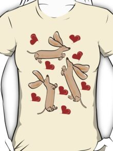 It's raining hearts and hunds T-Shirt