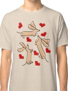 It's raining hearts and hunds Classic T-Shirt
