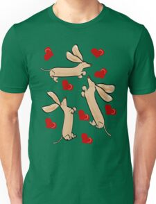It's raining hearts and hunds Unisex T-Shirt
