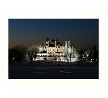 FROZEN BOLDT CASTLE Art Print