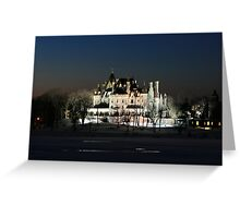FROZEN BOLDT CASTLE Greeting Card