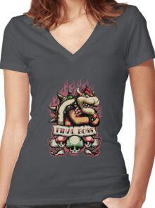 Final Boss Women's Fitted V-Neck T-Shirt