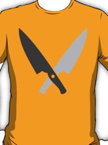 Crossed chef knives (Two knife) T-Shirt