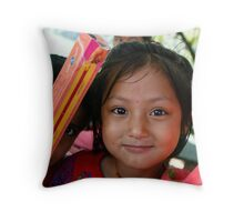 Children of Nepal eyes Throw Pillow