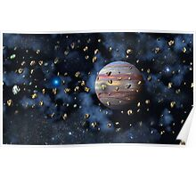 The Asteroid Belt Poster