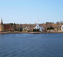 Mahone Bay Churches by HALIFAXPHOTO