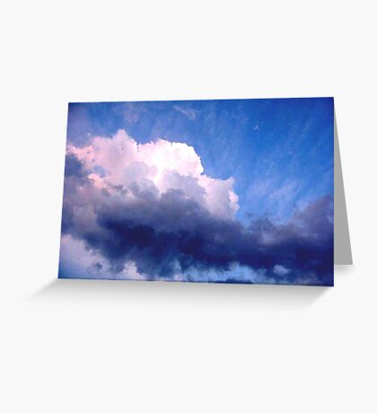 Toned clouds  Greeting Card