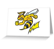 Mad Bee Greeting Card