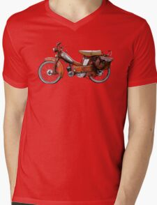 Vintage French Motobecane Moped Mens V-Neck T-Shirt