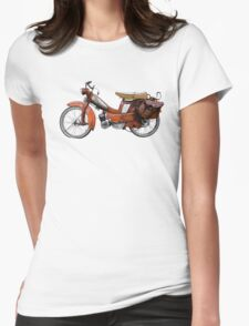 Vintage French Motobecane Moped Womens Fitted T-Shirt