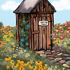 Outhouse I - Nature Calls by Cherie Balowski