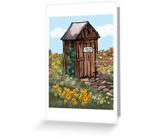 Outhouse I - Nature Calls Greeting Card