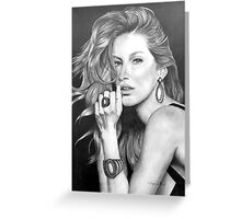 Gisele Bündchen in Graphite Pencil Greeting Card
