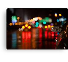 night in mirror Canvas Print