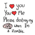 Love in the time of zombies by twisteddoodles