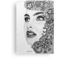 Woman in graphite pencil Canvas Print