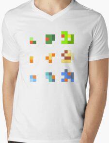 starters pokemon 3rd gen 8bits Mens V-Neck T-Shirt