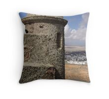 Old Fort In Teguise Throw Pillow