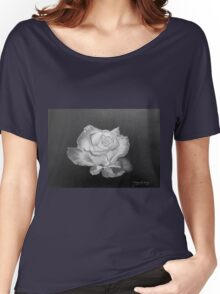 Rose in Graphite Pencil Women's Relaxed Fit T-Shirt