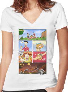 honey on pokemon funny Women's Fitted V-Neck T-Shirt