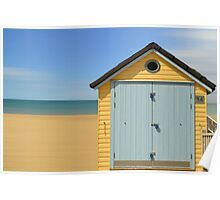 the little blue beach hut  Poster