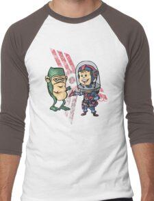SpaceKid and Shortstack Scroggins of Planet Miniscule 4 Men's Baseball ¾ T-Shirt
