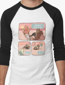 pokemon funny scene Men's Baseball ¾ T-Shirt