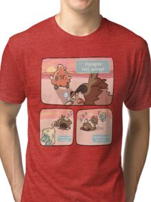pokemon funny scene Tri-blend T-Shirt