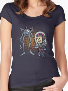 "SpaceKid and Comedian Stanley ""Leggytooth"" Bluetowski Women's Fitted Scoop T-Shirt"