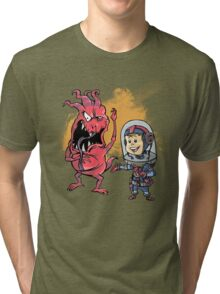 SpaceKid and Captain Sourbreath McCallister of the Ulysses Garbage Transport Tri-blend T-Shirt