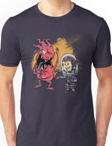 SpaceKid and Captain Sourbreath McCallister of the Ulysses Garbage Transport Unisex T-Shirt