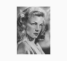 Lauren Bacall in Graphite Pencil Unisex T-Shirt