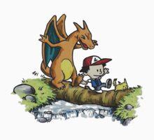 charizard following ash and pikachu T-Shirt