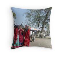 Saris in Jodhpur Throw Pillow