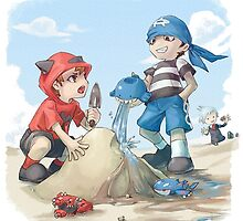 team magma and aqua rivals childhood by peekacho