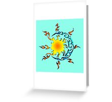 dialogue of the sun to the moon Greeting Card