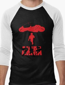 Akira Red on Black Men's Baseball ¾ T-Shirt