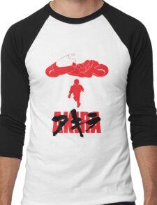 Akira Red on Black Men's Baseball ¾ T-Shirt
