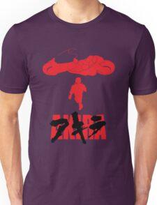 Akira Red on Black Unisex T-Shirt