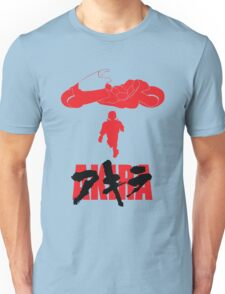 Akira Red on Black Unisex T-Shirt