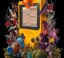 pokemon on gameboy cool design by peekacho