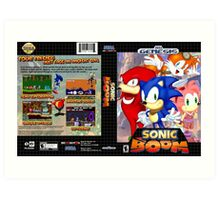 Sonic Boom Genesis Art Print
