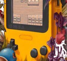pokemon on gameboy cool design Sticker