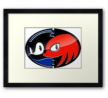 Sonic & Knuckles Framed Print
