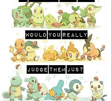 if pokemon were would you really judge them just because they aren't gen 1? by peekacho