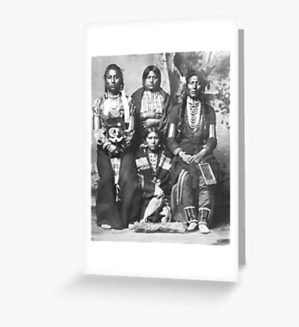 """Native Americans."" Greeting Card"