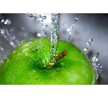 Apple Splash Photographic Print