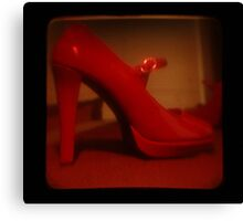 Ttv: Red Mary Jane Canvas Print