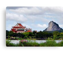 Temple And Buddha Canvas Print