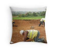 Three Archaeologists and a Roman Road Throw Pillow